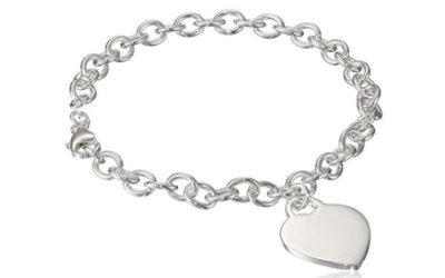 Silver Bracelet Sterling Bracelet with Large Heart Charm