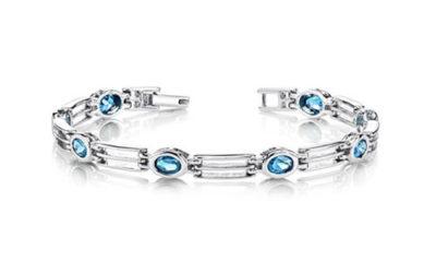 Silver Bracelet by London Blue Topaz Sterling Bracelet