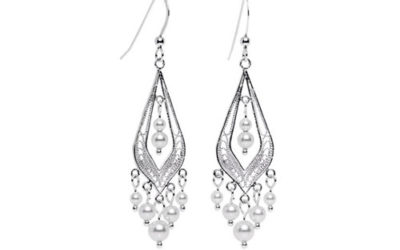 Silver Earrings by Body Candy Handcrafted 925 Sterling Chandelier Earrings with Swarovski Crystals