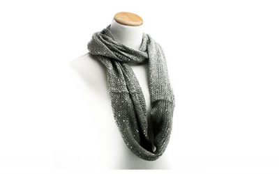 Silver Infinity Scarf by HotYogis Sparkle for Fall Winter