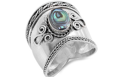 Silver Ring Wide Bali Ring .925 Sterling Rope Design