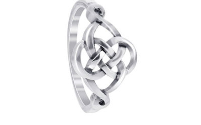 Silver Ring by Gem Avenue Sterling Celtic Rounded Knot Design