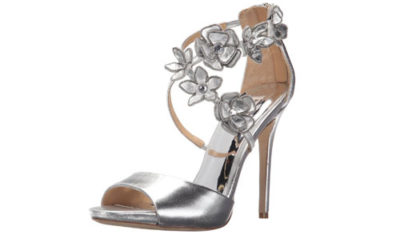 Silver Sandals by Badgley Mischka Women's Langley Dress Sandal