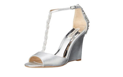 Silver Shoes by Badgley Mischka Women's Camryn II Wedge Sandal