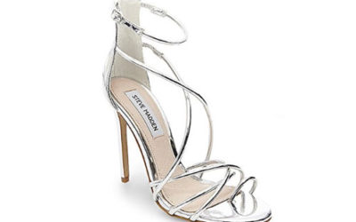 Silver Shoes by Steve Madden Women's Satya Dress Sandal