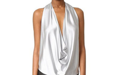 Silver Top by Ramy Brook Women's Harriet Halter Top