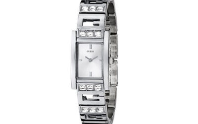 Silver Watch by GUESS Women's U85108L1 G-Iconic Sophistication Crystal