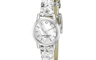 Silver Watch by Kate Spade New York Women's Tiny Metro Analog Display Quartz Wrist Watch