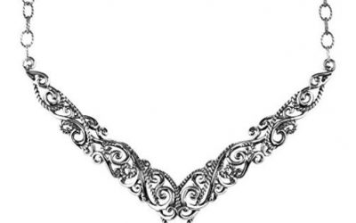 Sterling Silver Statement Necklace by Carolyn Pollack