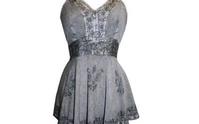 Silver Cami by B Agan Traders Vintage Top