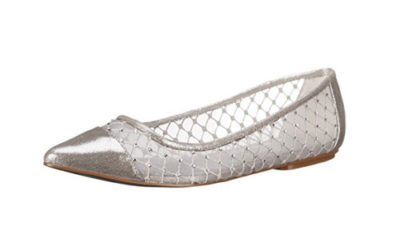 Silver Shoes – by Adrianna Papell Women's Jewel Flat