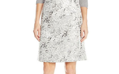 Silver Skirt by Ellen Tracy Women's A-Line