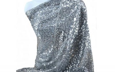Silver Beaded Shawl by Love My Seamless