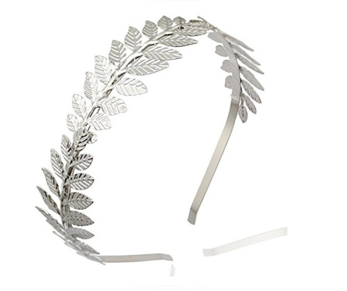 Silver Leaf Headband by NUOLUX Hair Accessories