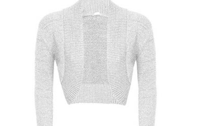 Silver Lurex Bolero Shrug by Forever