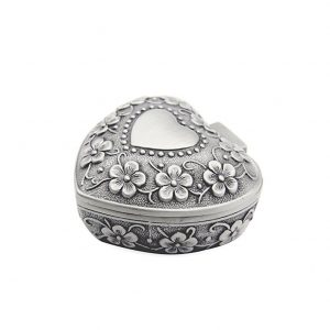 AVESON-Classic-Vintage-Antique-Heart-Shape-Jewelry-Box-Ring-Small-Trinket-Storage-Organizer-Chest-Christmas-Gift-Silver