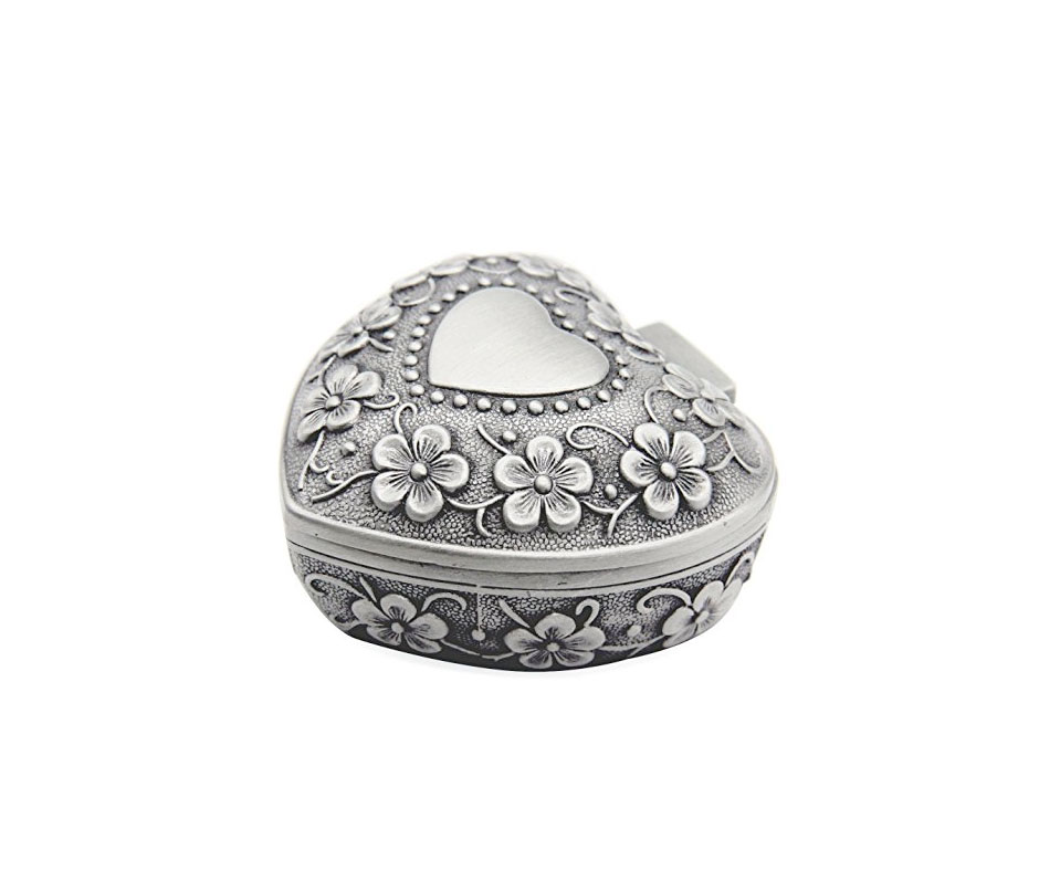 AVESON Classic Vintage Antique Heart Shape Jewelry Box